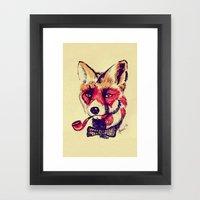 Vintage Fox Framed Art Print