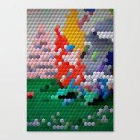 Geometric Wood Canvas Print