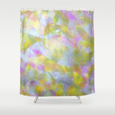 Abstract in Shimmery Pastel Colors Shower Curtain