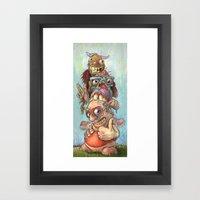 Character Totem Framed Art Print