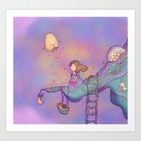 Up On The Treetop 3 Dark… Art Print