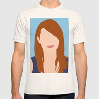 Emma Stone Digital Portrait Mens Fitted Tee Natural SMALL