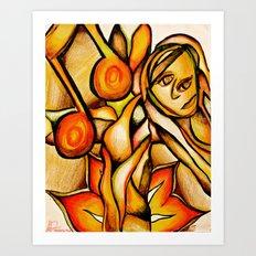 Flower- Reflect  Art Print