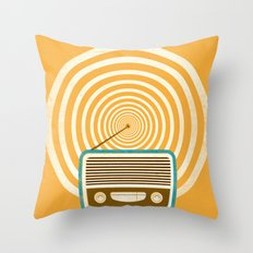 Mixed Signals - Yellow Throw Pillow