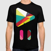 Geo-01 Mens Fitted Tee Black SMALL