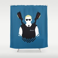Here Come The Fuzz Shower Curtain