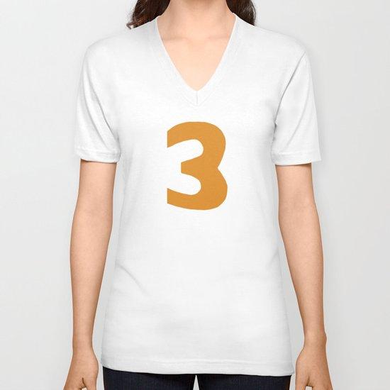 Number 3 V-neck T-shirt
