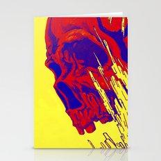 futuristic skull Stationery Cards