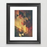 Framed Art Print featuring Fyyr by Spires