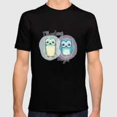owls SMALL Black Mens Fitted Tee