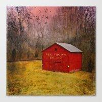 West Virginia Red Barn Canvas Print
