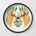 foxes in love Wall Clock