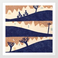Art Print featuring Lovely Hills of San Francisco by Diana Toledano