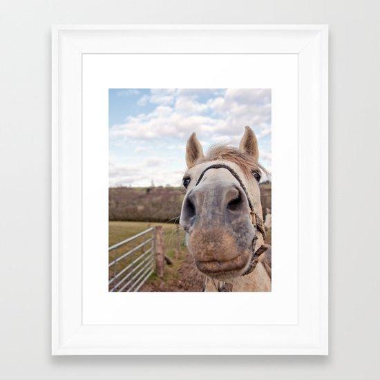 look at my horse... Framed Art Print