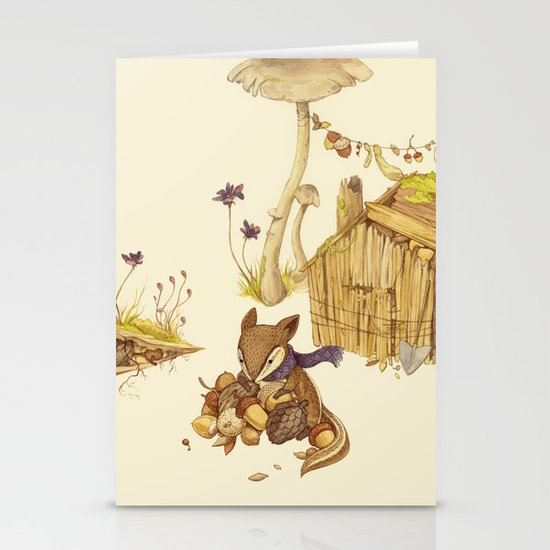Harvey the Greedy Chipmunk Stationery Card