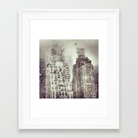 Snow Over the Essex House Framed Art Print
