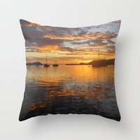 Sunrise On The Sea Of Co… Throw Pillow