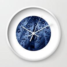 blue rain XII Wall Clock