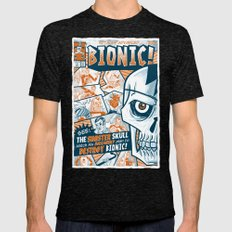 BIONIC! Mens Fitted Tee Tri-Black SMALL