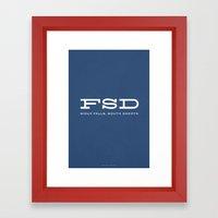 FSD Framed Art Print