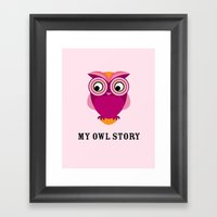 My owl story Framed Art Print