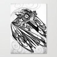 Raven's Escape Canvas Print