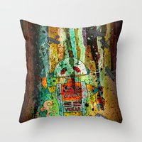 Vegan-Bot Throw Pillow