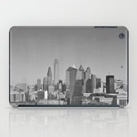 Black and White Philadelphia Skyline iPad Case