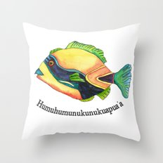 H is for Humuhumunukunukuapua'a Throw Pillow
