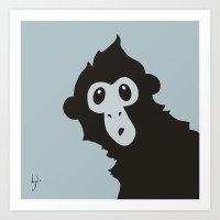 Spider Monkey - Peekaboo… Art Print