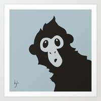 Spider Monkey - Peekaboo! Art Print