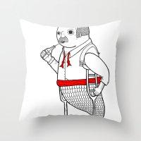 On The Merman's Propensi… Throw Pillow