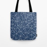 Abstraction Outline Navy Tote Bag