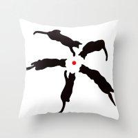 Laser Cats Throw Pillow