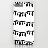 iPhone & iPod Case featuring Vintage Beads Black on White by Project M