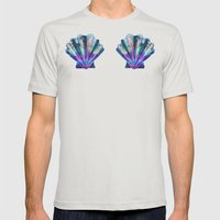 Seashell #7C Mens Fitted Tee Silver SMALL