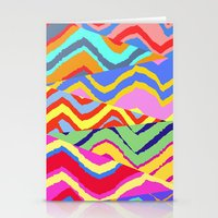 Striped Chevrons Stationery Cards