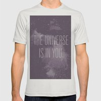Forged in the Stars Mens Fitted Tee Silver SMALL