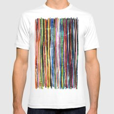 fancy stripes 1 SMALL White Mens Fitted Tee