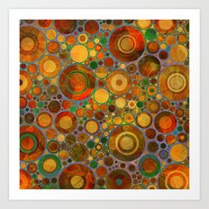 Abstract Circles Pattern 2 Art Print