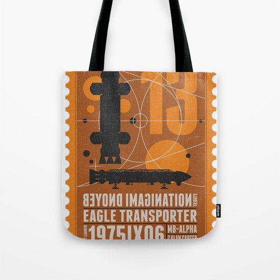 Beyond imagination: Space 1999 postage stamp  Tote Bag