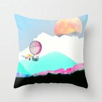 Magic Moon Throw Pillow