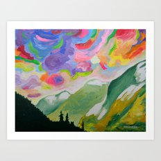 First Snow On The Coquihalla Art Print