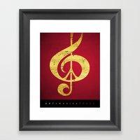 Music & Peace Sheet Musi… Framed Art Print