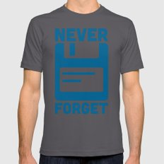 Never Forget Floppy Disk Mens Fitted Tee Asphalt SMALL