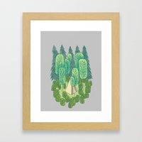 Sleeping Amongst Trees Framed Art Print