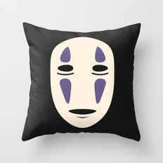 No-Face (Spirited Away) Throw Pillow