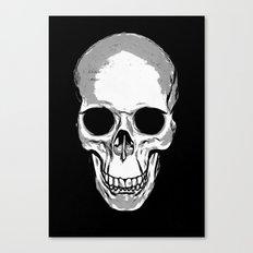 Monotone Skull Canvas Print