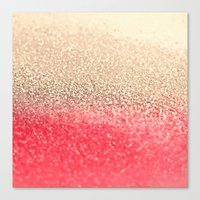 GOLD CORAL Canvas Print