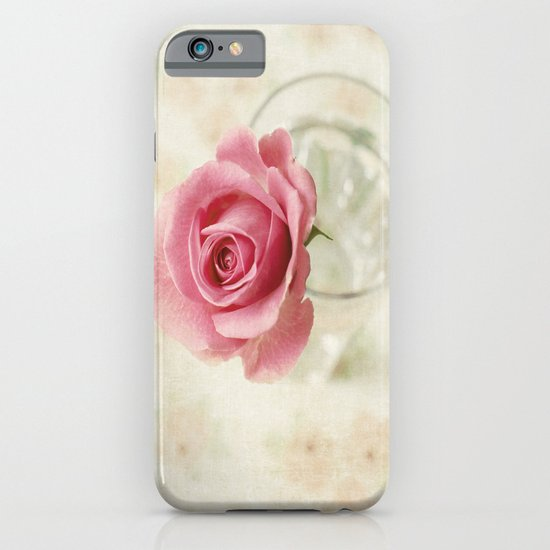 Vintage Textured Rose  iPhone & iPod Case